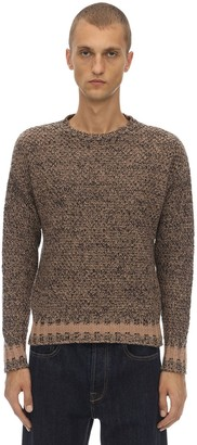 Piombo Mp Massimo LAMBS WOOL KNIT SWEATER