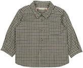 Bonpoint Long-Sleeve Poplin Check Shirt, Size 12M-2