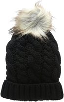 New Look Women's Cable Faux Pom Bobble Beanie