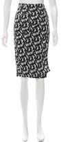 Fendi Patterned Wrap Skirt w/ Tags