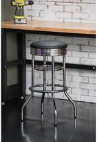Trinity 29 in. Chrome Swivel Cushioned Bar Stool