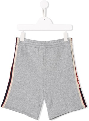 Gucci Kids Logo Printed Track Shorts