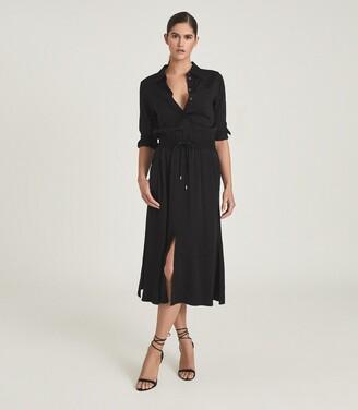 Reiss Rosie - Midi-length Shirt Dress in Black