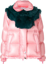 Sacai Shearling yoke padded jacket
