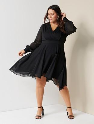 Forever New Fredrika Curve Pleated Skater Dress - Black - 16