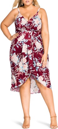 City Chic Rikka Floral Print Sundress