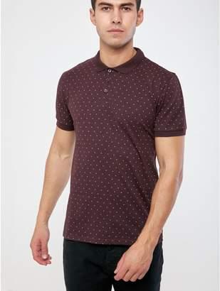 M&Co Geo print polo shirt