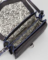 Rebecca Minkoff Hudson Moto Mini Crossbody Bag, Black/Blue