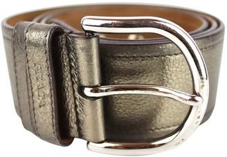 Prada Metallic Leather Belts