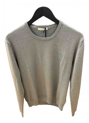 Versace Grey Wool Knitwear & Sweatshirts