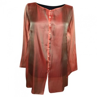 Givenchy Orange Silk Tops