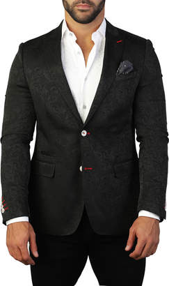 Maceoo Men's Beethoven Paisley-Textured Two-Button Jacket