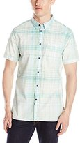 Calvin Klein Jeans Men's Yarn Dye Bleach Plaid Shirt