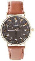 Frank & Oak Breda Brown Leather Wristband Watch