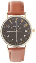 Frank + Oak Breda Watch - Belmont in Brown & Gold