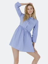 Thumbnail for your product : ENGLISH FACTORY Shirt Dress with Pleat detail