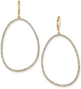 INC International Concepts Gold-Tone Large Pavé Drop Hoop Earrings, Only at Macy's