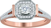 MODERN BRIDE Womens 1/3 CT. T.W. Genuine Round White Diamond 10K Gold Engagement Ring