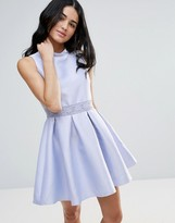 Zibi London Skater Dress With Lace Insert