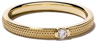 De Beers 18kt yellow gold Azulea diamond band