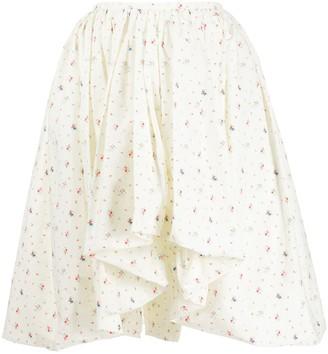 Molly Goddard Floral Print Flared Skirt