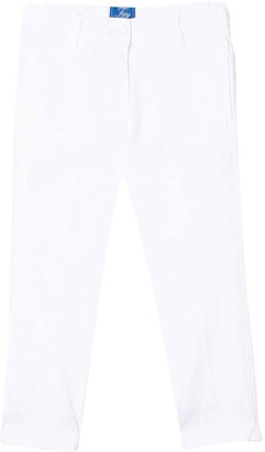 Fay White Straight-cut Teen Jeans