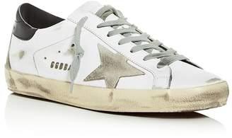 Golden Goose Unisex Superstar Distressed Leather Low-Top Sneakers