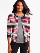 Talbots Charming Cardigan-Fair Isle