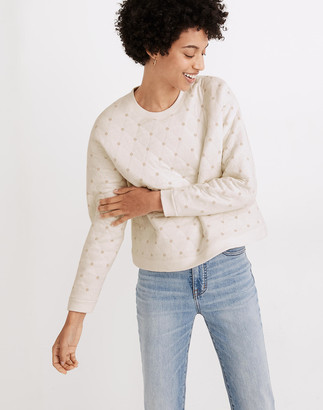 Madewell Plaid Quilted Swing Sweatshirt
