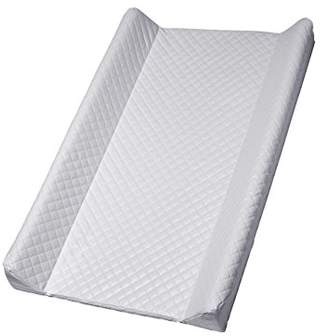 Camilla And Marc Rotho Babydesign Wedge Changing Mat, Quilted Look, Modern Square, For babies from birth upwards, 70 x 50 x 9.8 cm, Pearl Silver, 204440168CH