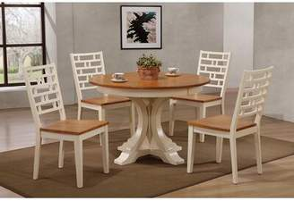 Biscotti August Grove Grandy 5 Piece Dining Set August Grove Color: Caramel