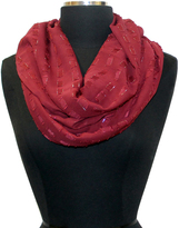 Cejon Red Metallic Infinity Scarf