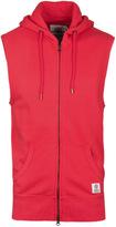 Franklin & Marshall Comets Red Sleeveless Hooded Sweatshirt