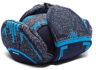 Prada Logo-jacquard Padded Trapper Hat - Blue