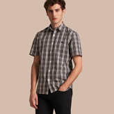 Burberry Short-sleeved Check Cotton Poplin Shirt