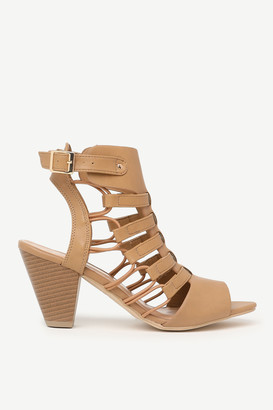 Ardene Tapered Block Caged Heels