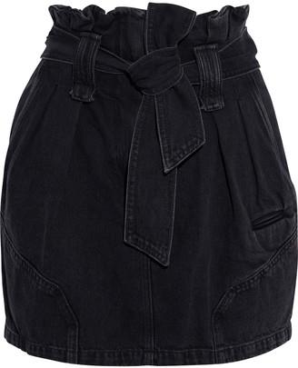 IRO Hovy Belted Pleated Denim Mini Skirt