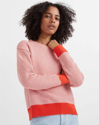 Club Monaco Tri-Color Stitch Sweater