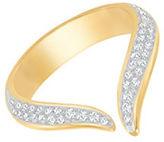 Swarovski Groove 23K Goldplated and Genuine Crystal Ring