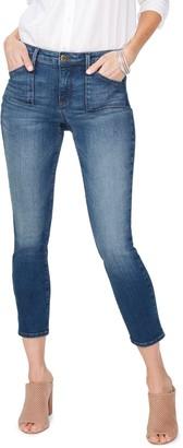 NYDJ Alina Utility Pocket Ankle Skinny Jeans