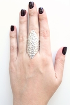 Low Luv x Erin Wasson By Erin Wasson Hammered Ring in Silver