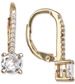 Giani Bernini Cubic Zirconia Leverback Drop Earrings in 18k Gold-Plated Sterling Silver, Created for Macy's