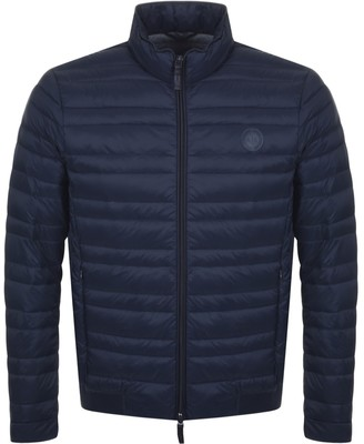 Armani Exchange Quilted Down Jacket Navy