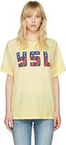 Saint Laurent Yellow Usa T-shirt