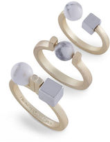 French Connection Who Ya Calling A Druzy Howlite Ring Set