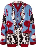 Alanui indigenous-style patterned cardigan