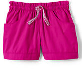 Classic Girls Plus Woven Shorts-Soft Magenta