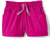 Classic Girls Woven Shorts-Light Indigo Blue