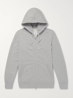 Reigning Champ Slim-Fit Melange Loopback Cotton-Jersey Zip-Up Hoodie