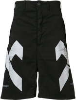 11 By Boris Bidjan Saberi geometric print shorts - men - Cotton/Spandex/Elastane - XS